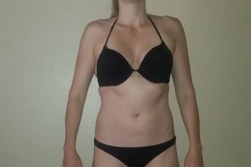 17-19 Weeks From 1st bikini Show: Muscle Building Front Pose