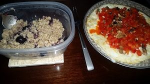 16 weeks from 1st bikini show meal 1 oats, blue berries, eggs, vegetables