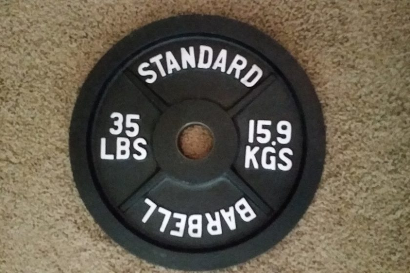 35 lbs weight